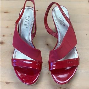 Franco Sarto red wedge shoes